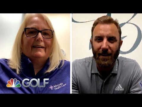Dustin Johnson surprises Chicago nurse in video chat to thank her | Driving Relief | Golf Channel