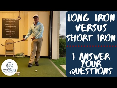 I answer a subscriber's question! Long iron versus short iron