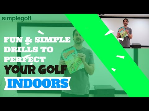 Perfecting Your Golf Game INDOORS (5 Fun and Easy Drills) With Balls, books and bands 🏌♂🏡