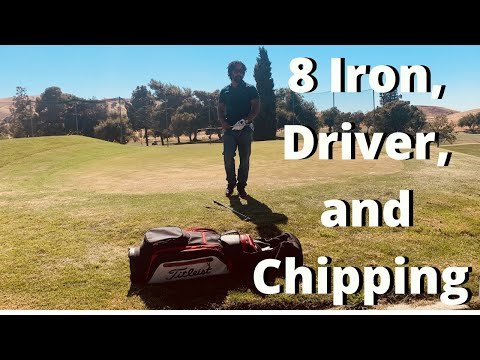 8 Iron, Driver, and Chipping Practice (Golf Vlog)