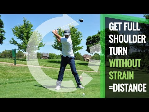 More Shoulder Turn for Golf Swing and More Power with Less Strain