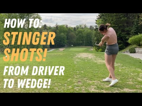 HOW TO HIT LOW SHOT STINGERS WITH ALL GOLF CLUBS-FROM DRIVER TO WEDGE-GOLF WRX