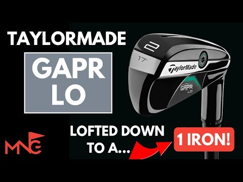 Hitting A 1 Iron!! TaylorMade GAPR Lo Lofted Down