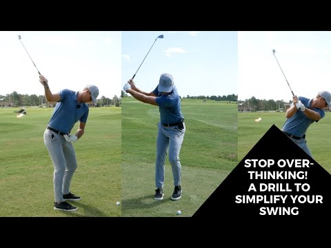 STOP OVER-THINKING! A DRILL TO SIMPLIFY YOUR SWING… BUT IT'S A CHALLENGE