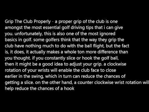 My Top 3 Golf Driving Tips –
