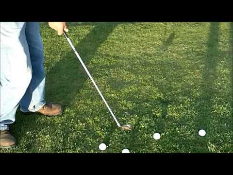 golf tips: chipping on a downhill lie