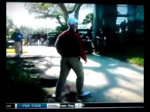 Amazing! Left handed pitch shot by Corey Pavin