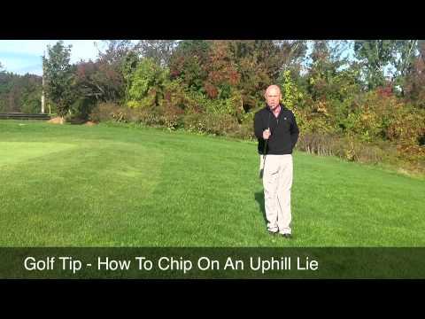 Golf Tip – Chipping An Uphill Lie