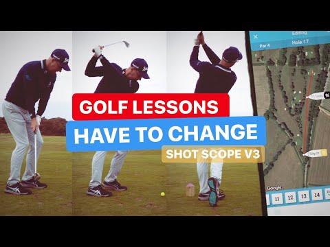 GOLF LESSONS HAVE TO CHANGE V3 SHOT SCOPE