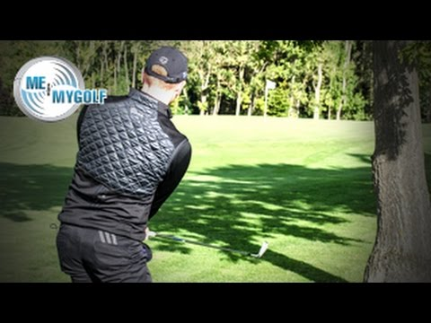 LOW PUNCH GOLF SHOT UNDER A TREE