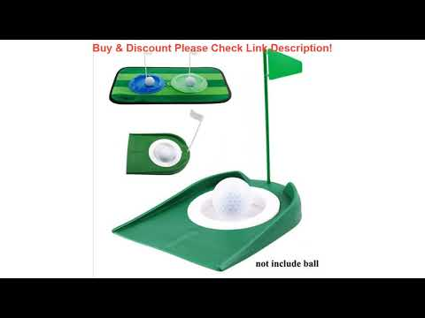 Review Golf Putting Regulation Cup Hole Flag Indoor Home Yard Outdoor Practice Training Trainer Aid