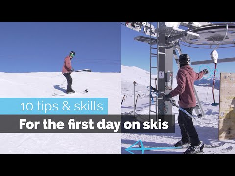 HOW TO SKI   10 BEGINNER SKILLS FOR THE FIRST DAY SKIING