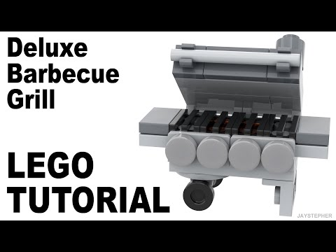 LEGO Tutorial On How To Build A Deluxe Barbecue Grill