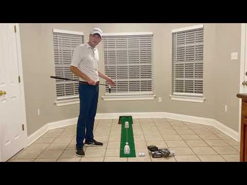 Fred and Eddie's Golf Chat Episode 6 – At Home Putting Drill to help you line up your putts.