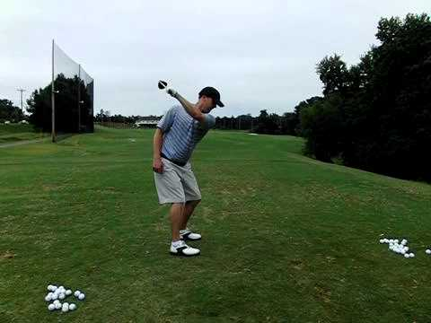 left hand only back swing very good position