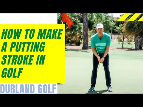 GOLF TIP | How To Make A Putting Stroke In Golf