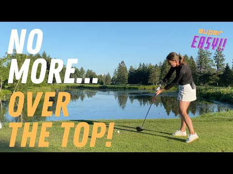 HOW TO CURE the OVER THE TOP in your GOLF DRIVER SWING💪