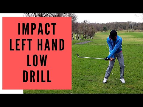 HOW TO INCREASE LAG – GOLF LAG DRILL – LEFT HAND LOW