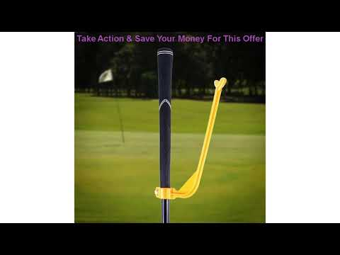 Review Golf swing trainer for beginners to align the golf club with correct wrist training aids acc