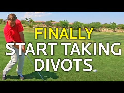 HOW TO TAKE A DIVOT WITH YOUR IRONS (The Secret)