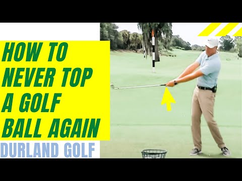 GOLF TIP   How To Never Top A Golf Ball Again