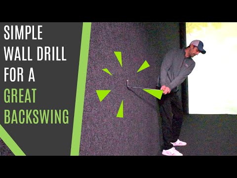 Consistent Backswing Plane And Transition Wall Drill.