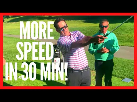 HOW TO INCREASE GOLF SWING SPEED IN 30 MINUTES!