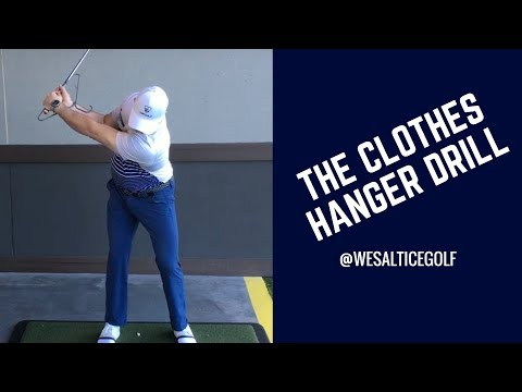 GOLF: THE CLOTHES HANGER DRILL