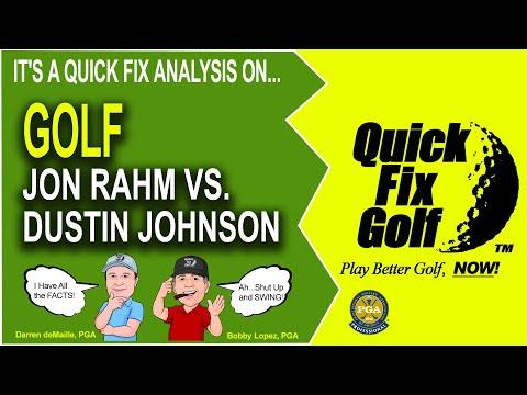 Jon Rahm Golf Swing Analysis Online Watch Rahm vs Johnson