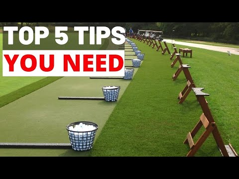 HOW TO STOP WASTING TIME AT THE DRIVING RANGE !