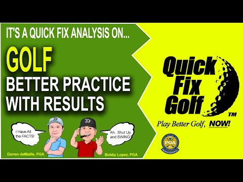 Driving Range Practice Routine and Golf Swing Drills