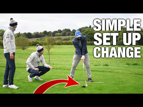 How To Hit Your DRIVER Straight!   One SIMPLE Set Up Change   ME AND MY GOLF