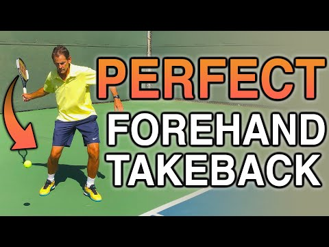 How To Find The PERFECT Forehand Backswing/Take Back   Tennis Forehand
