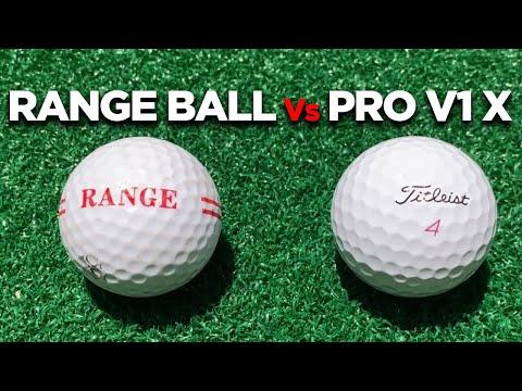 DO RANGE BALLS GO SHORTER? RANGE BALLS V REAL GOLF BALLS