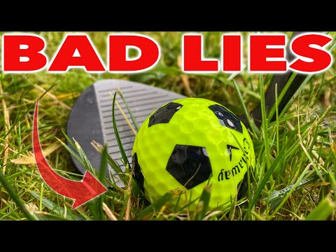 HOW TO HIT CHIP SHOTS FROM AROUND THE GREENS IN BAD LIES – SIMPLE GOLF TIPS