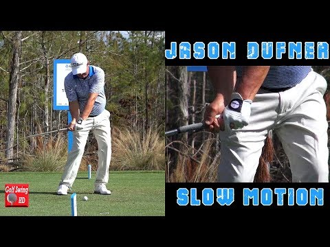 JASON DUFNER – HANDS THRU IMPACT (CLOSE UP SLOW MOTION) FACE ON IRON GOLF SWING 1080 HD