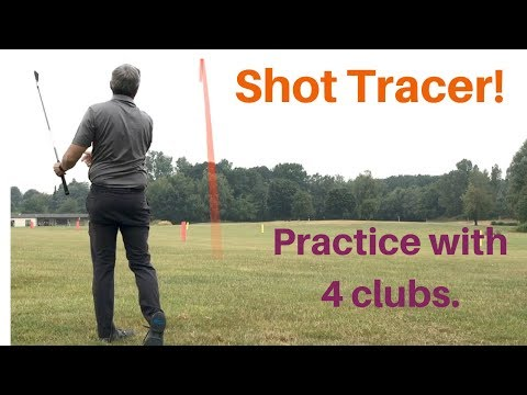 Kirk Junge. 4 Different clubs, with Shot tracer. Single – One Plane golf swing.