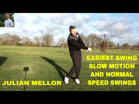 EASIEST SWING IN GOLF,  CHIP SHOTS TO DRIVER SWINGS IN SLOW MOTION AND NORMAL SPEED