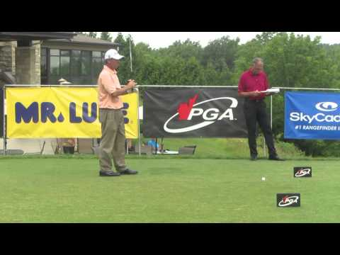 2009 PGA Seniors' Champ Jim Rutledge teeing off on day 2 at Lookout Point Country Club