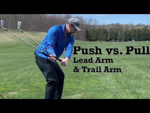 Lead Arm Pull vs. Trail Arm Push – Golf Swing Basics – IMPACT SNAP