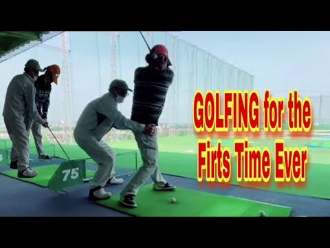 GOLF DRIVING RANGE  First Time Ever Golfing  in Japan
