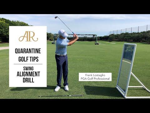 Quarantine Golf Tips – Swing Alignment Drill
