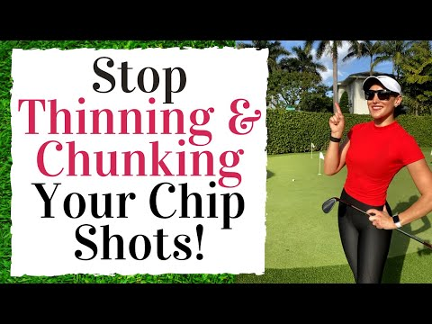 How To Stop THINNING And CHUNKING Your Chips Shots – Golf Fitness Tips!