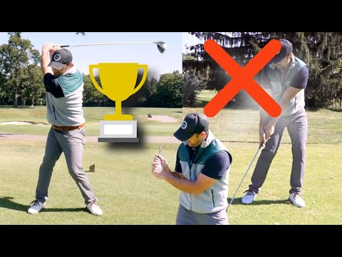 Golf Swing Results TODAY (Stop Hitting Behind The Ball With Irons And Bomb The Driver)