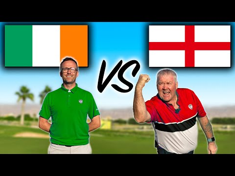 ENGLAND vs IRELAND with ALL NEW SHOT TRACER GOLF SHOTS !