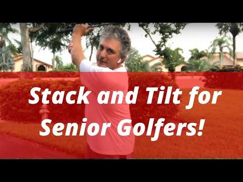 Stack and Tilt for the Senior Golfer! PGA Golf Professional Jess Frank   The Best Senior Golf Swing!