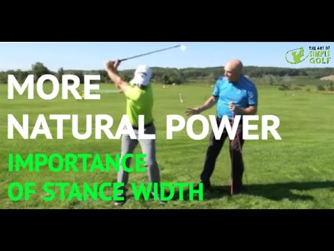 Golf Tips For Power: Importance of Stance Width