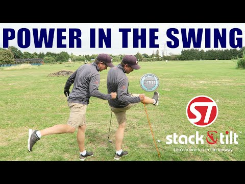 How to create power in the Stack & Tilt golf swing | Golf Tips | Lesson 15