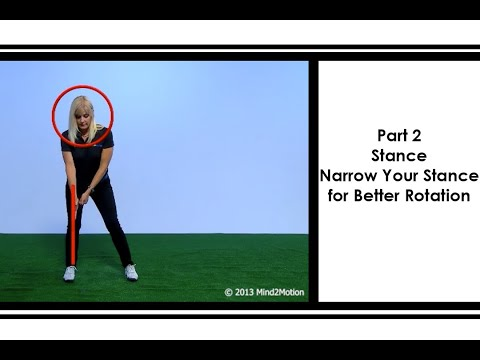 Part 2: Stance – Narrow your stance for Better Rotation