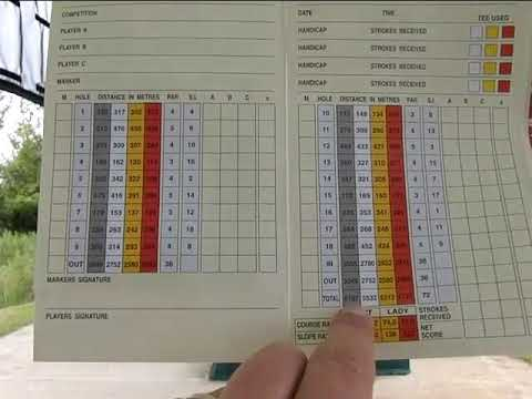 Golf Tips For Beginners (How To Use A Scorecard)